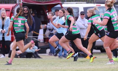 Sharks Winger Andie Robinson flys down the wing (Photo : Steve Montgomery)