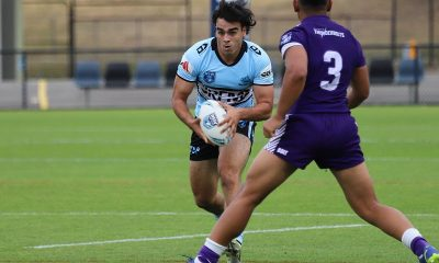 Sharks Jed Hardy runs up the middle of Sharks Park in round 3 v the Bears (Photo : Steve Montgomery)