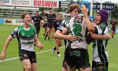 Townsvile Blackhawks celebrate in Round 6