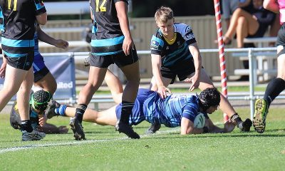 Corey Ackers dives in for the 2nd last try of the day (Photo : Steve Montgomery)