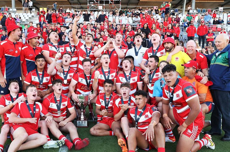 PBC wins, Queensland Schoolboy Phil Hall Cup rugby league grand final between Palm beach Currumbin SHS and St Brendan's College, Redcliffe. Picture: Liam Kidston