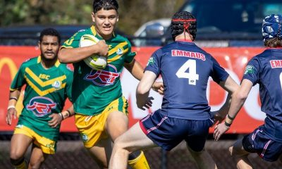 Tane Kiriona warming up for St Brendan's College Picture: Matthew Forrest