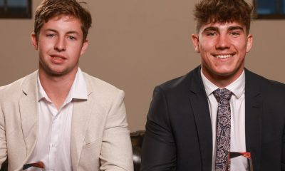 Wynnum Manly Seagulls team mates Shaun Packer and Blake Moore were awarded this year's Auswide Bank Mal Meninga Cup Player